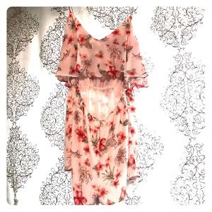 Floral Romper - Thin Strapped & Open Back